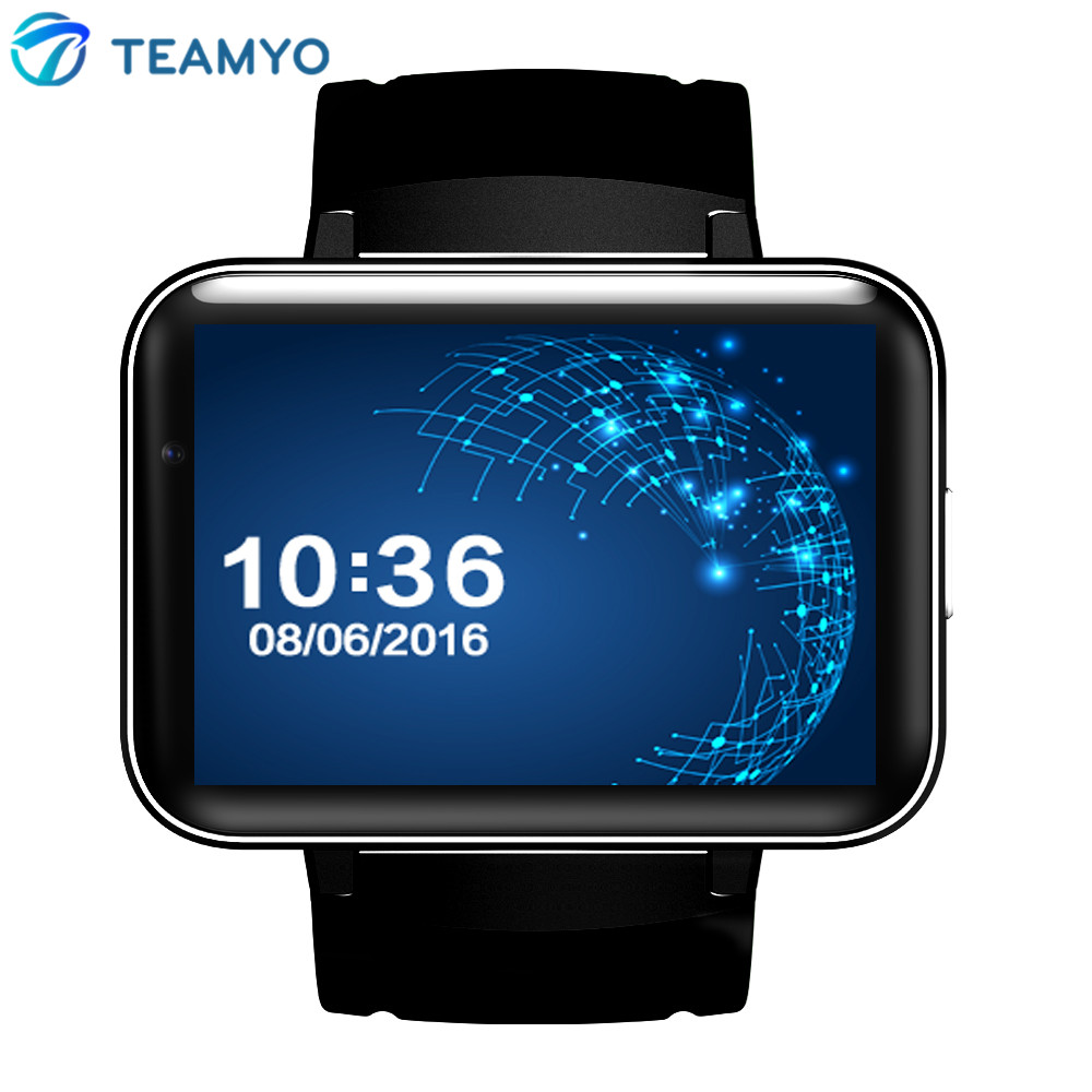 DM98 Smart Watch Android Phone 2.2'' Full View HD Screen Android 4.4 OS 3G Smartwatch Phone MTK6572 Dual Core 1.2GHz GPS WIFI gps навигатор lexand sa5 hd