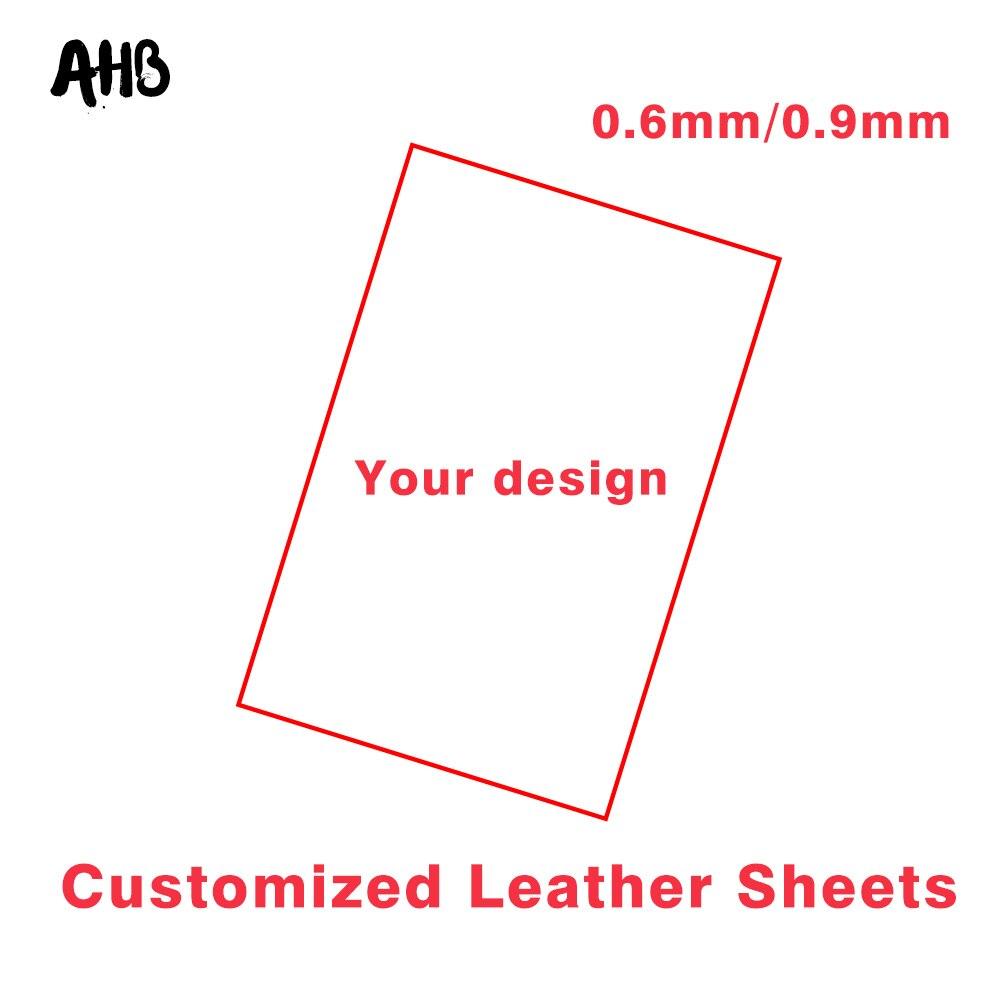 AHB en gros sur mesure en cuir synthétique tissu bricolage cheveux accessoires Textile à la maison imprimé tissu poupées à monter soi-même matériel de couture