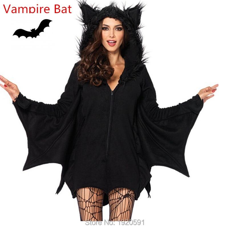 black evil vampire bat costume women halloween costumes plays vampire devil costume new arrival - High Quality Womens Halloween Costumes