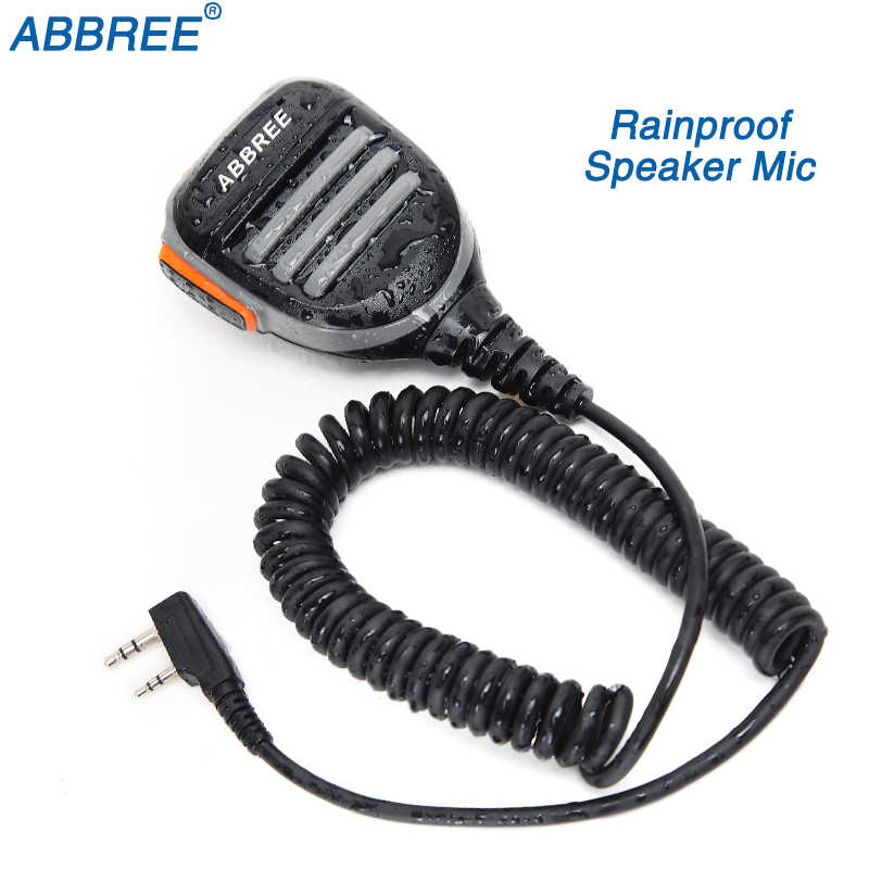 Abbree AR-780 2 Pin PTT Remote Tahan Air Speaker MIC untuk Radio Kenwood TYT Baofeng Walkie Talkie UV-5R 888S UV-82 uv-s9 Radio