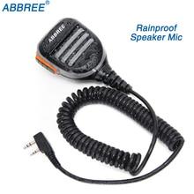 Abbree AR 780 2 Broches PTT À Distance Étanche Haut Parleur Mic pour Radio TYT Baofeng Talkie walkie UV 5R UV 10R UV 82 UV S9 PLUS Radio