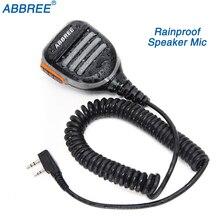 Abbree AR 780 2 Pin PTT Remoteกันน้ำลำโพงMicสำหรับวิทยุTYT Baofeng Walkie Talkie UV 5R UV 10R UV 82 UV S9 PLUSวิทยุ