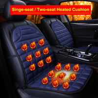 Dewtreetali Auto 12V Electric Heated Car Seat Cover Heater Winter Warm Heating Front Cushion Pad Car