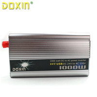 DC AC 24V To 220V 1000 Watt Auto Car Power Inverter Inversor Car Chargers Wechselrichter Universal