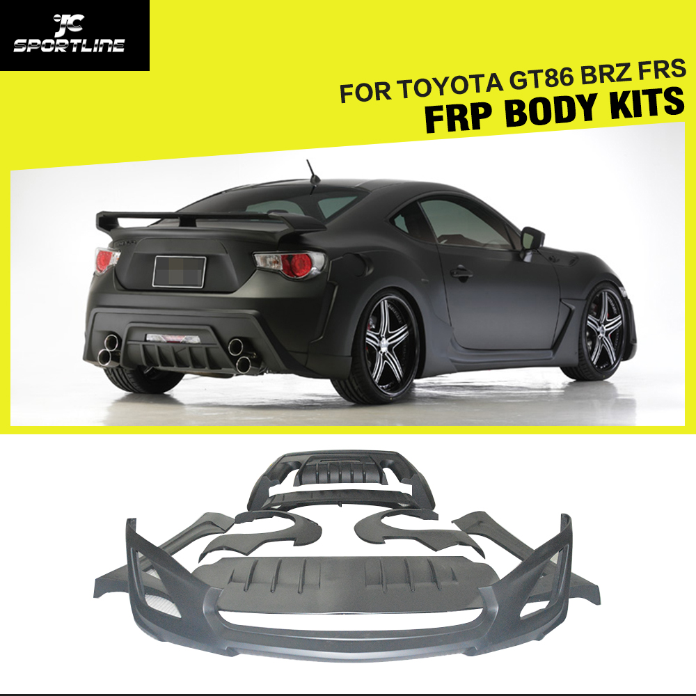Car style frp auto car body styling kit body kit for toyota gt86 brz frs