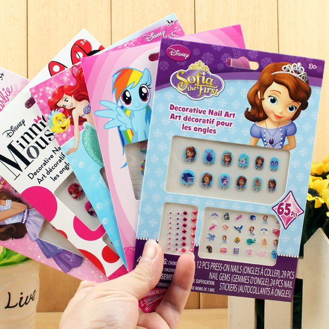 Girl Nail Stickers DIY Kids Toys For Children PVC Manicure Sticker ...