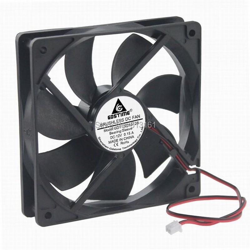 5pcs/lot Gdstime High Speed 2Pin 12025 12V DC Ventilation 120mm 120x25mm Cooling Fan