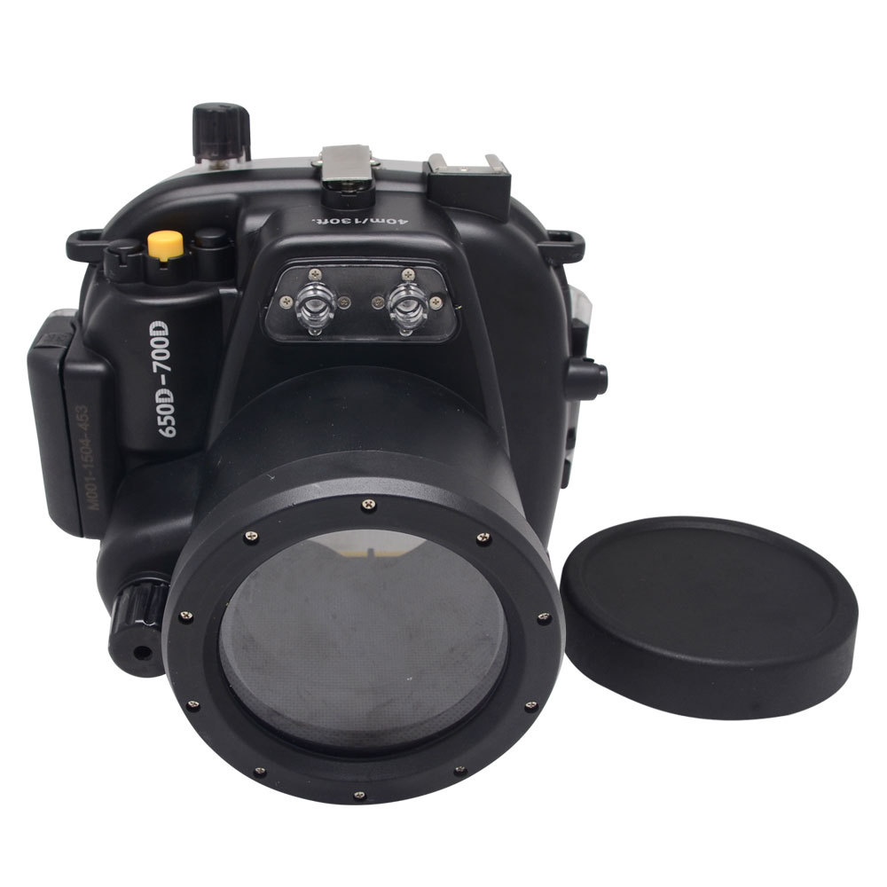 Mcoplus 50M 160ft Underwater Waterproof Housing Case For Canon EOS 650D 700D Rebel T4i/T5i with EF-S 18-55mm or EF 50mm Lens image