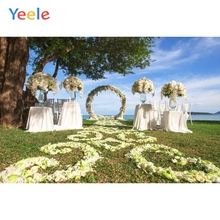 Yeele Vinyl Wedding Ceremony Grassland Flowers Wreath Photography Backdrops Love Party Photographic Backgrounds For Photo Studio