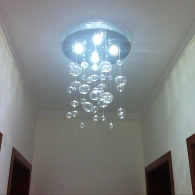 Online Shop ZX Moderna LED Lampadario Palla di Vetro Bolla Disegno ...