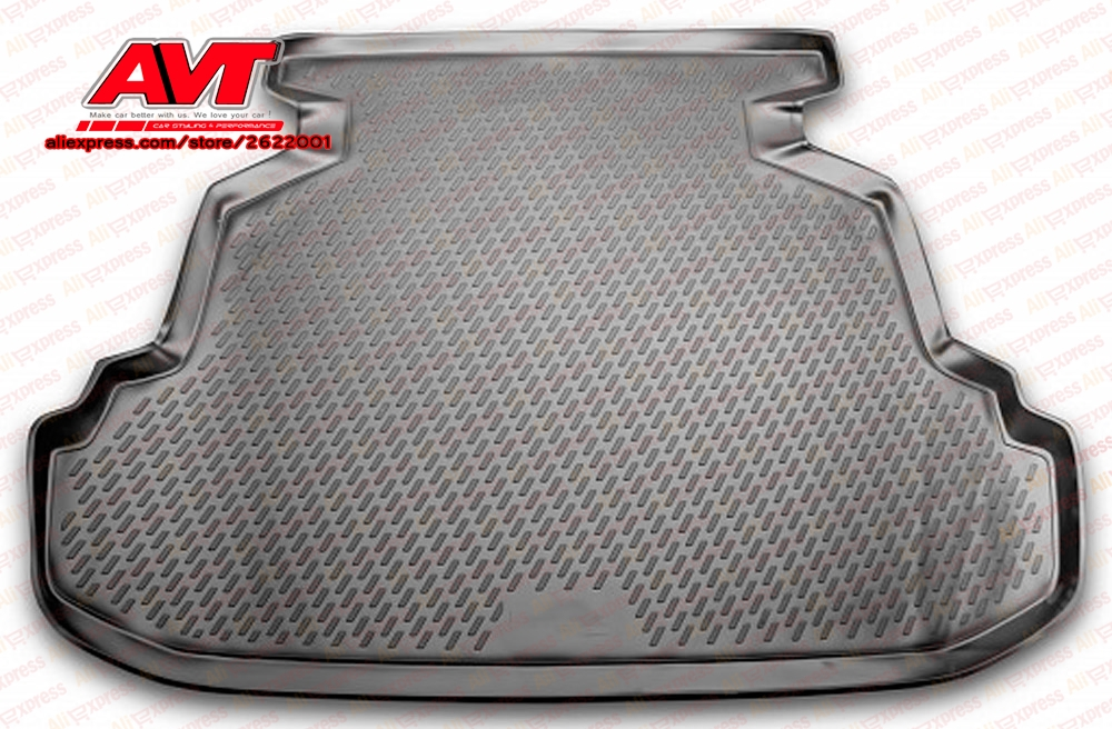 Trunk mats for Lifan Solano 2010- 1 pcs rubber rugs non slip rubber interior car styling accessories