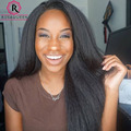 180% Density 360 Lace Wigs Brazilian Kinky Straight Lace Front Human Hair Wigs 360 Lace Frontal Wig Full Lace Human Hair Wigs