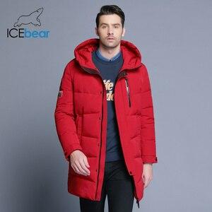 Image 2 - ICEbear 2019 Hot sprzedaż zima ciepłe  mężczyzn ciepłe  kurtka parki wysokiej jakości Parka moda na co dzień płaszcz MWD18856D