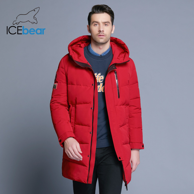 ICEbear 2019 offre spéciale hiver chaud coupe-vent capuche hommes veste chaud hommes Parkas haute qualité Parka mode décontracté manteau MWD18856D - 2