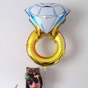 Image 4 - Globo grande de 43 pulgadas, anillo de diamante, globos de aluminio, decoración inflable para boda globo de helio, suministros para fiestas y eventos