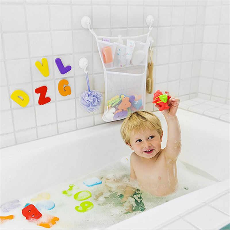 Łazienka frajerem poliestrowa torba do przechowywania dla dzieci dla dzieci czas kąpieli Tidy przechowywania zabawki przyssawki torba siatka łazienka organizator netto wanna zabawki