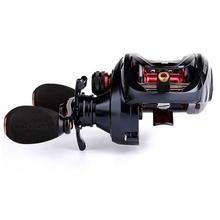 10   1 eixo Metal Frame Low-Profile Carretel Carretel De Arremesso Pesca Carretel de Pesca Roda Copo Fio Resistente À Corrosão