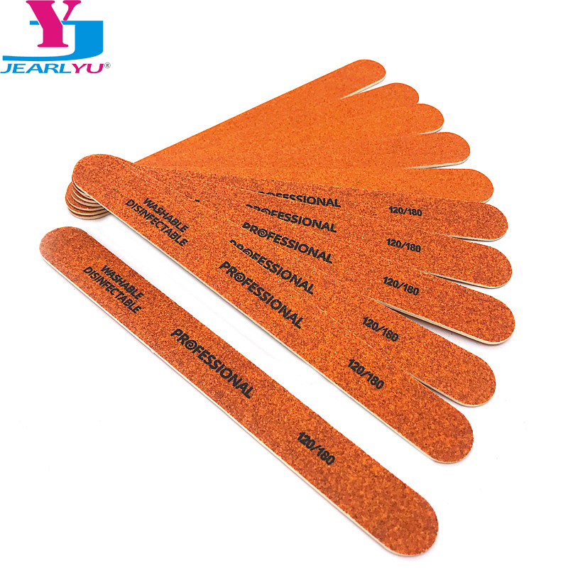 New 10 Pcs Professional Wooden Nail Files High Quality Brown Embout Ponceuse Ongle 120/180 Strong Thick Emery Board Nail File