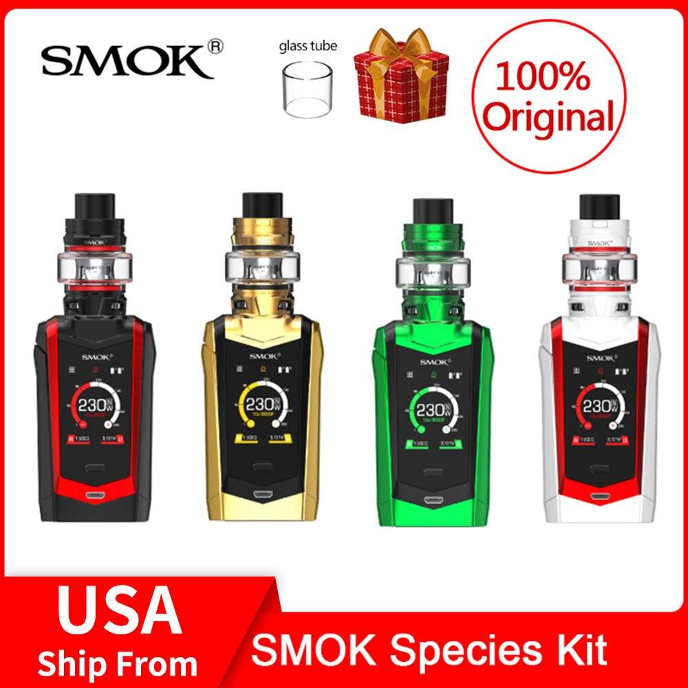 Kit Original d'espèces de SMOK 230 W avec réservoir TFV8 Baby V2 + V8 bébé V2 A1/A2 bobines kit de Cigarette électronique smok essence smok vape
