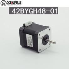 42 Шаговый двигатель 42BYGH47 1.7A 0.55n 1,8 градусов 3D принтер Гравировка машины мотор 12V