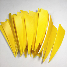 50pcs High Quality 3inch Feather Shield Cut Vanes Turkey Feather Yellow Arrow Real Feather Arrow Feathers Vanes Bow Arrow 50pcs high quality 3inch feath shield cut vanes turkey feather violet arrow real feather arrow feathers vanes bow arrow
