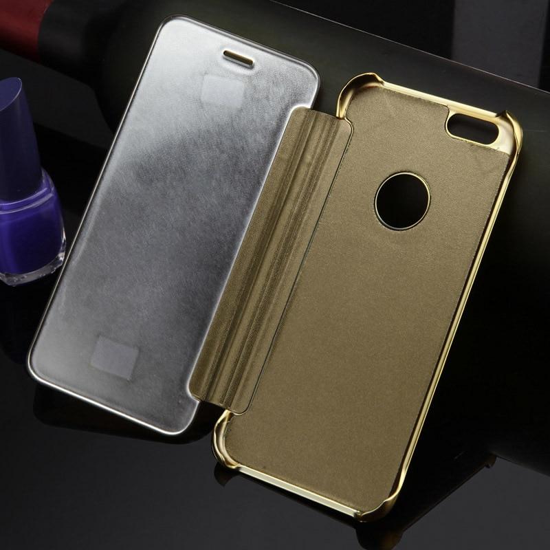 Luxury Batal Cerdas Window Protector Shell Kasus untuk iPhone 6 & 6 - Aksesori dan suku cadang ponsel - Foto 1