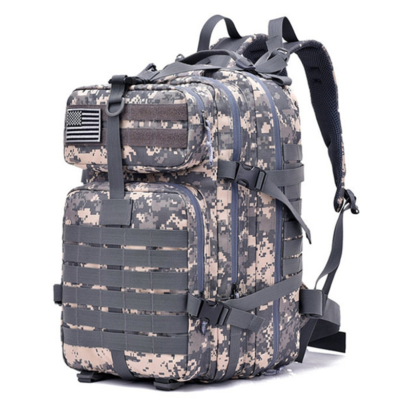 50L Military Tactical Assault Pack Backpack Army 3D Waterproof Bug Out Bag Small Rucksack for Outdoor Hiking Camping Hunting