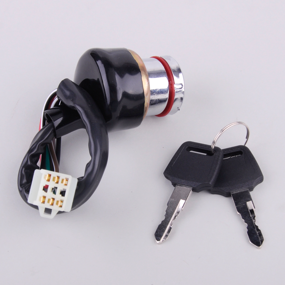 CITALL Car Motorcycle Ignition Switch 3 Position 6 Wire With 2 Key For Harley BMW Honda Suzuki Yamaha Bobber Scooter ATV Go Kart