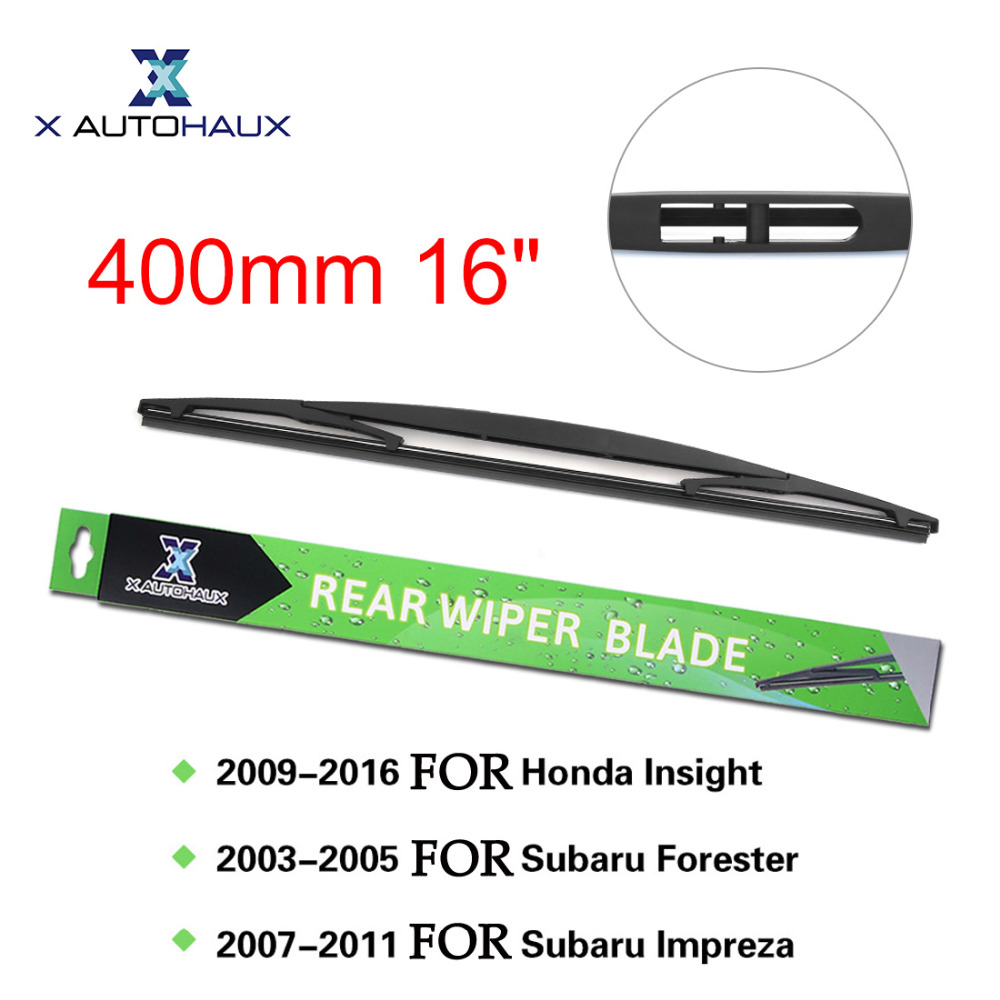 X Autohaux 400mm 16 Rear Window Windshield Car Wiper Blade For Honda Insight 2009 To 2016 For Subaru For Impreza 2007 To 2011