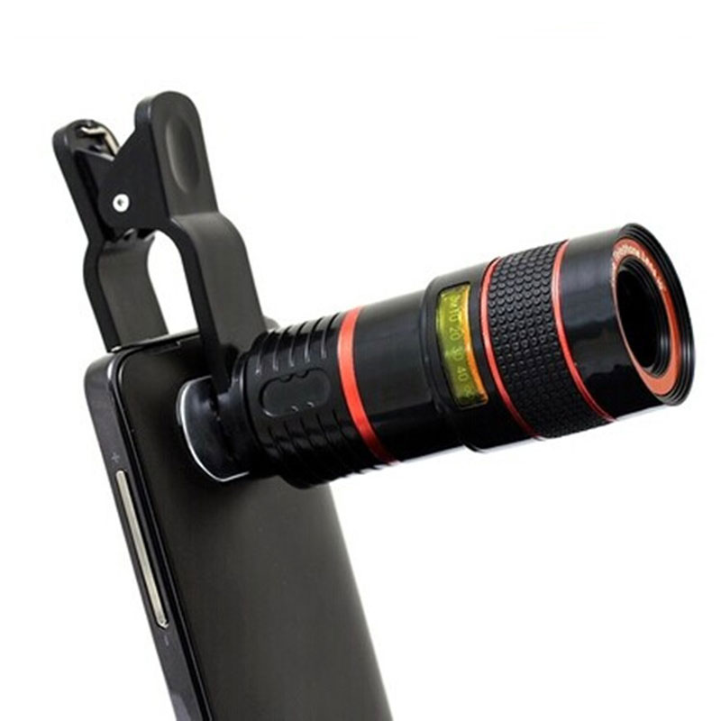 Universal Phone Clip 8X Optical Zoom Telescope Phone Camera <font><b>Lens</b></font> for iPhone 4S 5SE 6 plus Samsung Galaxy S3 <font><b>S5</b></font> S6 S7 Phone <font><b>Lens</b></font> image