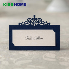 36pcs Blue Place Card Holder Table Centerpieces Number Name Wedding Banquet Decoration Event Party Cards & Invitations
