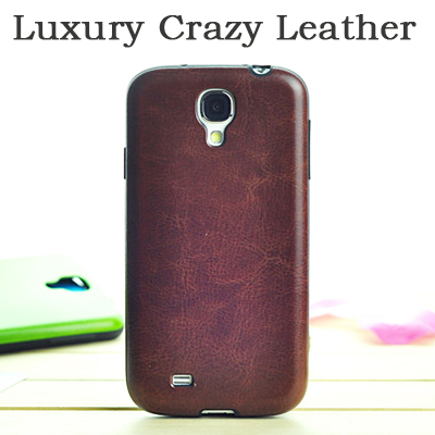 Luxury Crazy Horse PU Leather Back Case Cover Samsung Galaxy S4 Mini mini I9190 Phone Cases Capa - Forrest Technology store