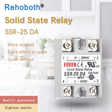 цена на SSR -10DA/25DA/ 40DA DC control AC SSR white shell Single phase Solid state relay WITHOUT plastic cover