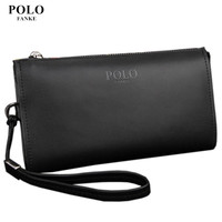 NEW Arrival Genuine Leather POLO Men S Wallet Designer S Zipper Clutches Wallet Business Long Purse