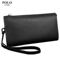 NEW Arrival Genuine Leather POLO Men S Wallet Designer S Zipper Clutches Wallet Business Long Purse