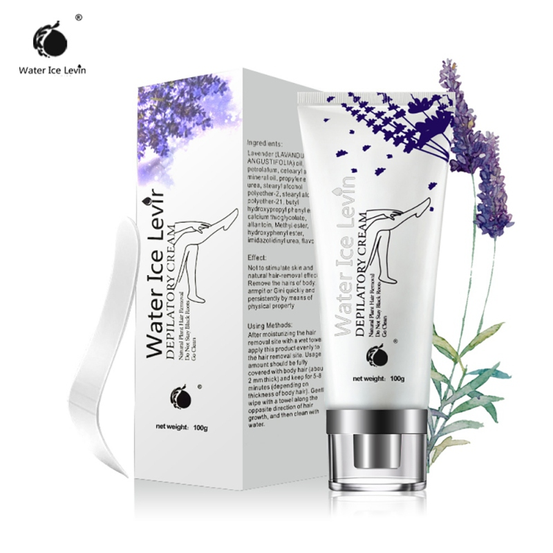 New Summer Natural Women Painless And Safety Lavender Hair Unisex Liquid Anti-allergy Hair Remover Cream 100g Hot Products
