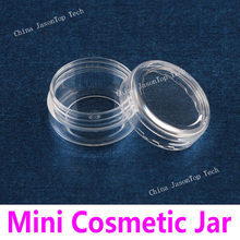 10pcs Cosmetic Bottles Travel Cream Jars Empty Makeup Box Plastic Container Round Bead Storage Bottle Powder Mini Sub Pot Clear(China)