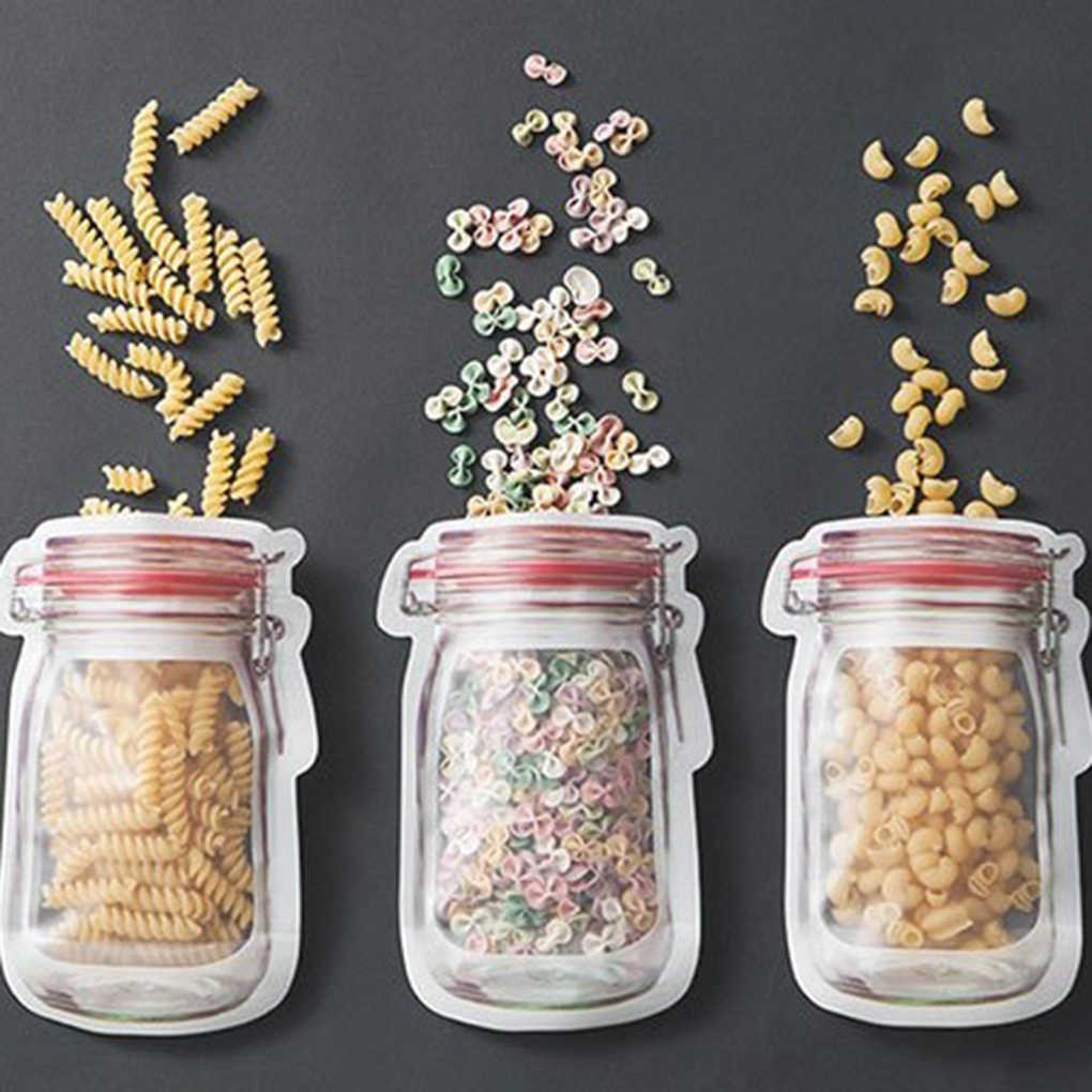 Lovely Reusable Seal PE Food Fresh Bag Vacuum Sealer Fruit Meat Milk Storage Bags Wrap Plastic Bags