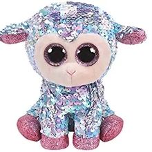 "Ty Beanie Boos 6"" 15cm Sequin Tulip Sheep Fox Cat Unicorn Dog Owl Wolf Plush Regular Big-eyed Stuffed Animal Collection Doll Toy"
