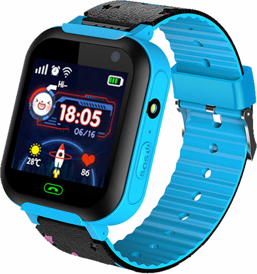 Genvivia GSM Audio Alarm LBS Tracker Smart Watch Inch Intelligent Two-way Tracking Location Finder Kids Baby Smart Watch 5#3.5