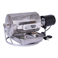 Free Shipping By DHL 1pc Electric Stainless Steel Glass Window Coffee Roaster Machine Tool BBQ For