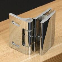 1PCS Brass 90 Degree Inside Open Frameless Bathroom Wall to Glass Shower Door Hinge Bracket Chrome