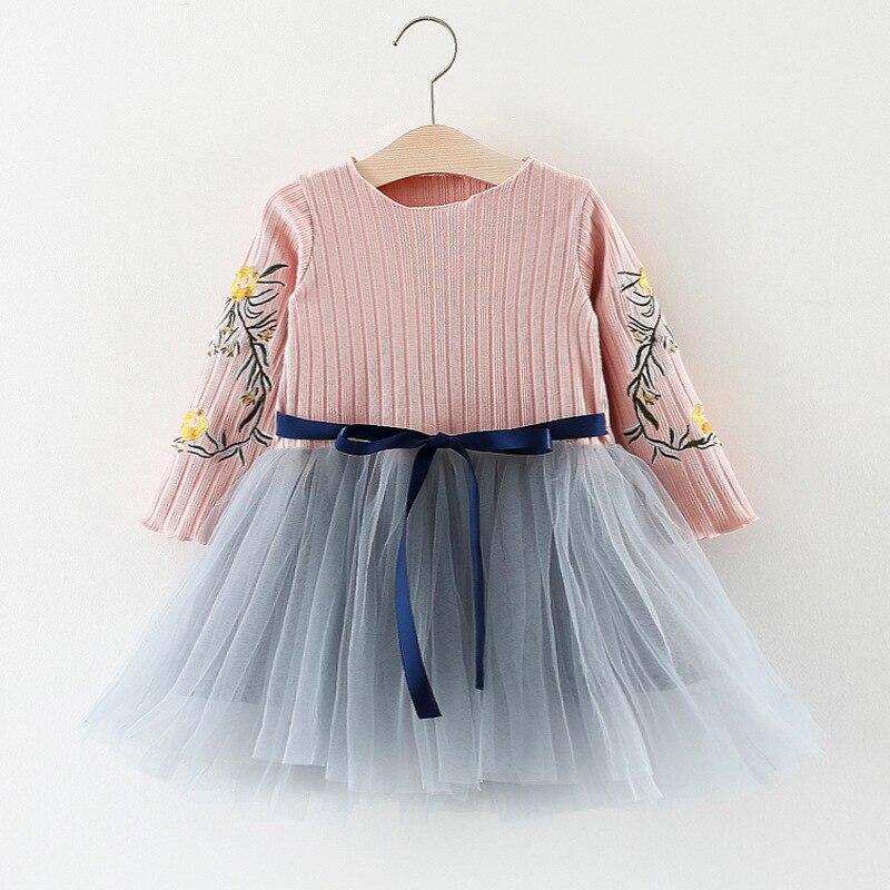 2018 Весна Хлопковое платье для девочки Детские платье принцессы с цветочным принтом детская Костюмы Лидер продаж 0-3 лет