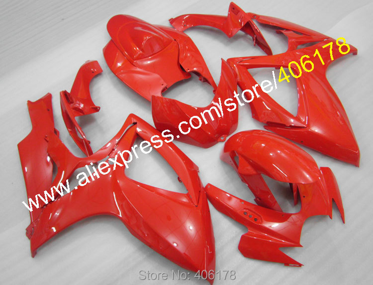 Body kit For <font><b>2006</b></font> 2007 GSX-R600 GSXR750 06 07 <font><b>GSXR</b></font> <font><b>600</b></font> 750 K6 All Red Motorcycle <font><b>Fairings</b></font> (Injection molding) image