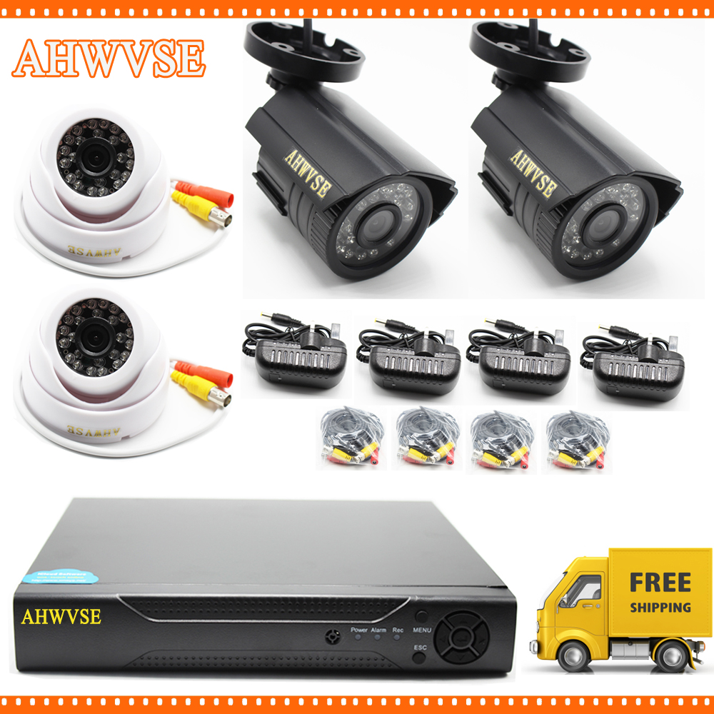 HD 5MP AHD Outdoor Indoor Security Camera System CCTV Video Surveillance 4CH DVR Kit AHD Camera Set zosi 1080p 8ch tvi dvr with 8x 1080p hd outdoor home security video surveillance camera system 2tb hard drive white