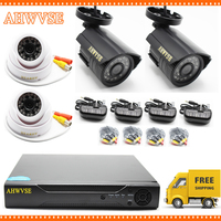HD 5MP AHD Outdoor Indoor Security Camera System CCTV Video Surveillance 4CH DVR Kit AHD Camera