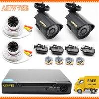 HD 5MP AHD Outdoor Indoor Security Camera System CCTV Video Surveillance 4CH DVR Kit AHD Camera Set
