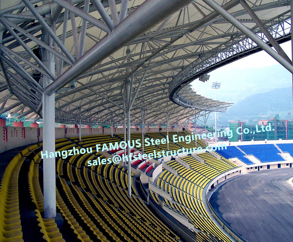 Pre-Engineered Long Span Tubular Structural Open Air Stadium Steel Pipe Columns And Truss  Frames Gymnasium Building