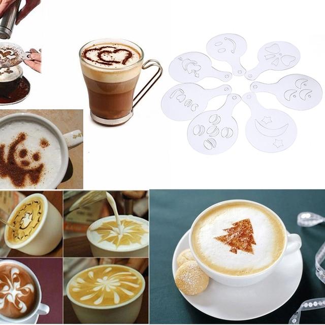 16 Teile/los Kaffee Druck Schablonen Vorlage Strew Pad Für Kaffee ...
