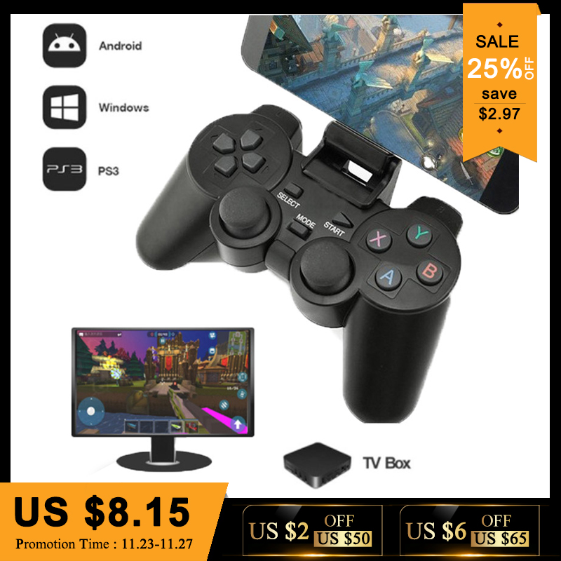 2.4g Controlador Sem Fio Para PS3 Telefone Android TV Box PC Game Controller Joystick Para Telefones Xiaomi OTG Inteligente Remoto joypad